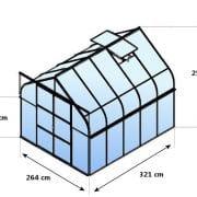DIANA 8300 zielona 8,3m²(2,57mx3,21m)