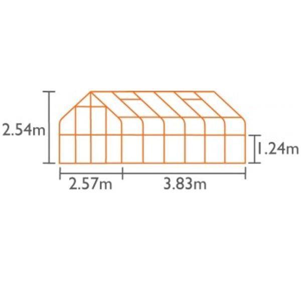 DIANA 9900 zielona 9,9m²(2,57mx3,84m)