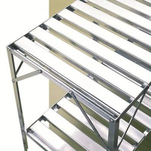 Stolik 2-piętrowy srebrny Vitavia 20001