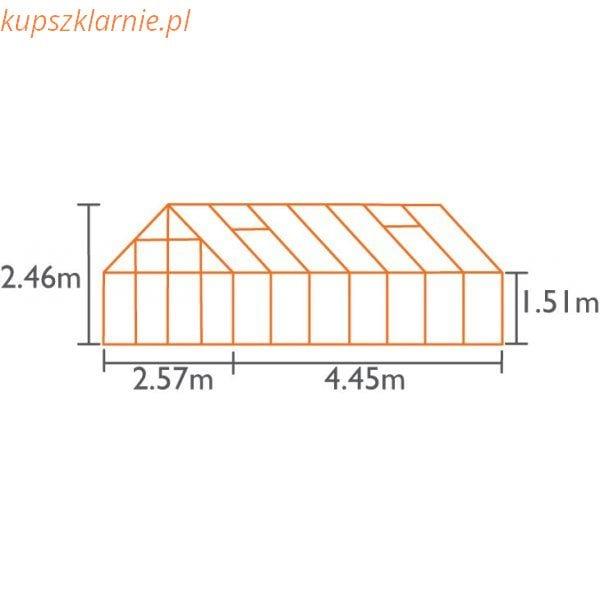URANUS 11500 srebrna11,5m²(2,57mx4,45m)