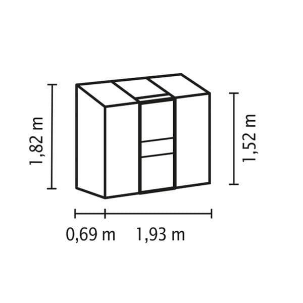 Vitavia IDA 1300 srebrna 1,3m²