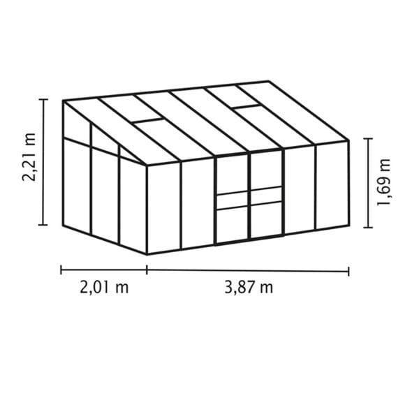 Vitavia IDA 7800 srebrna 7,8m² (2,01mx3,87m)
