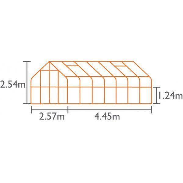 DIANA 11500 srebrna 11,5m²(2,57mx4,45m)
