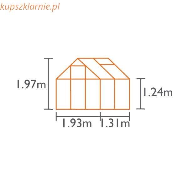 VENUS 2500 zielona 2,5m²(1,95mx1,31m)